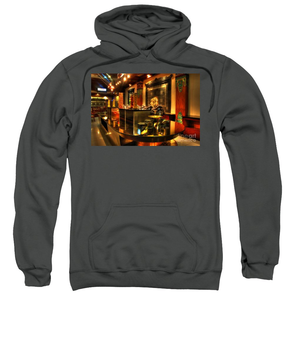 Restaurant Sweatshirt featuring the photograph Restaurant Interior 1 by Charuhas Images