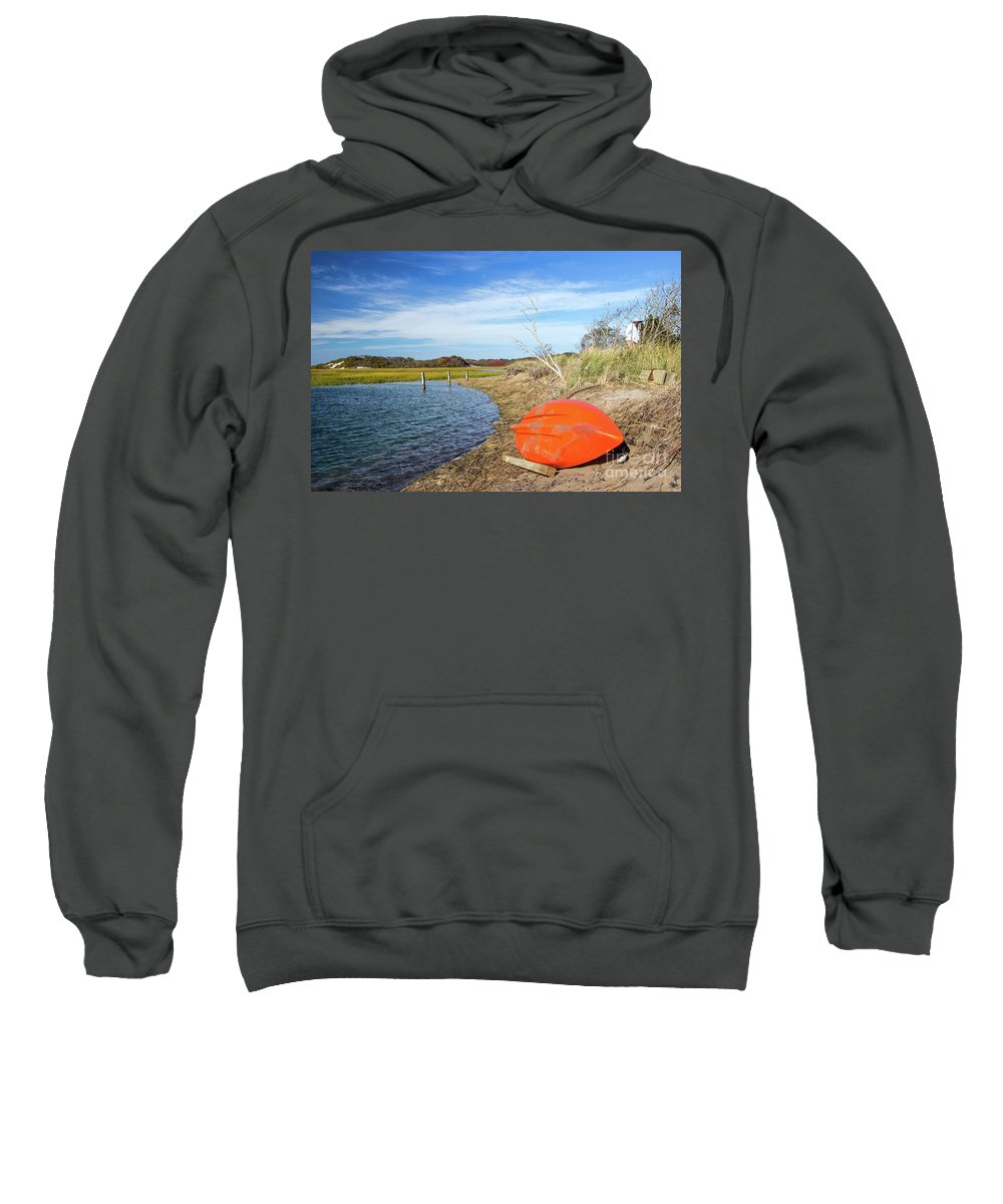 Boat Sweatshirt featuring the photograph Resting Place by Kris Hiemstra