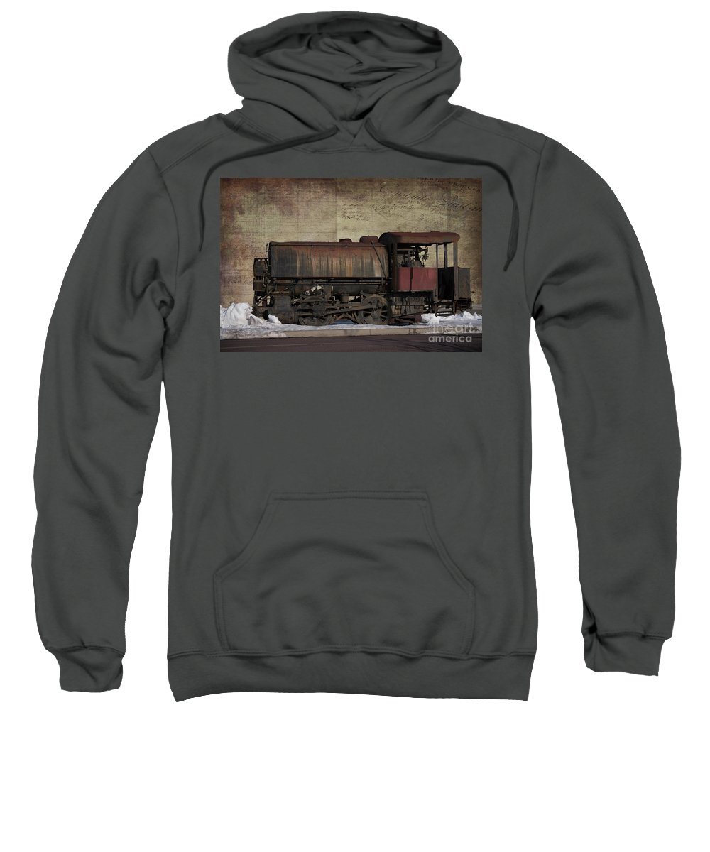 Train Sweatshirt featuring the photograph Retired 2 by Judy Wolinsky