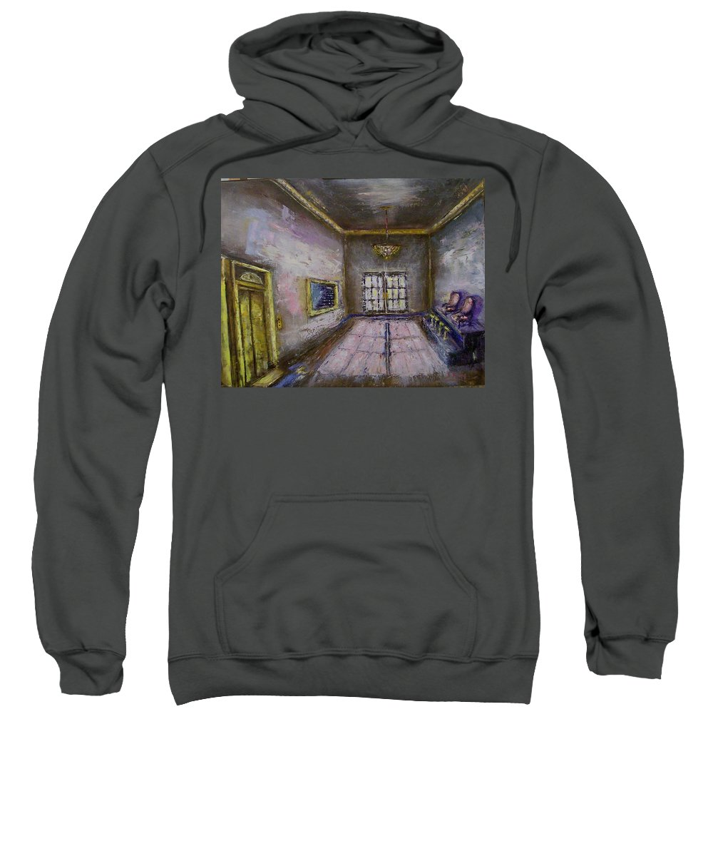 Lobby Sweatshirt featuring the painting Retro Lobby by Stephen King