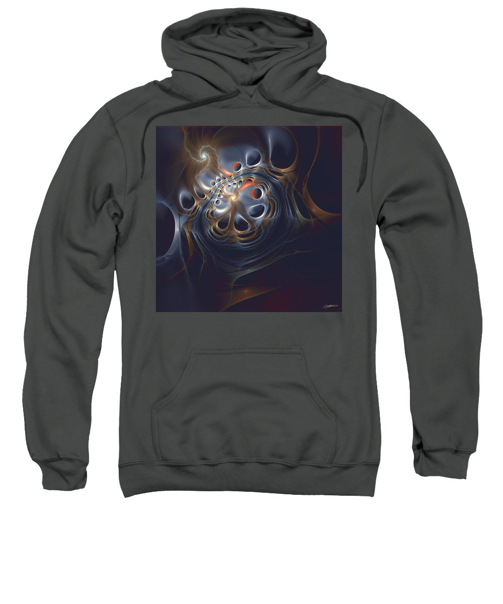 Abstract Sweatshirt featuring the digital art Revolver by Casey Kotas