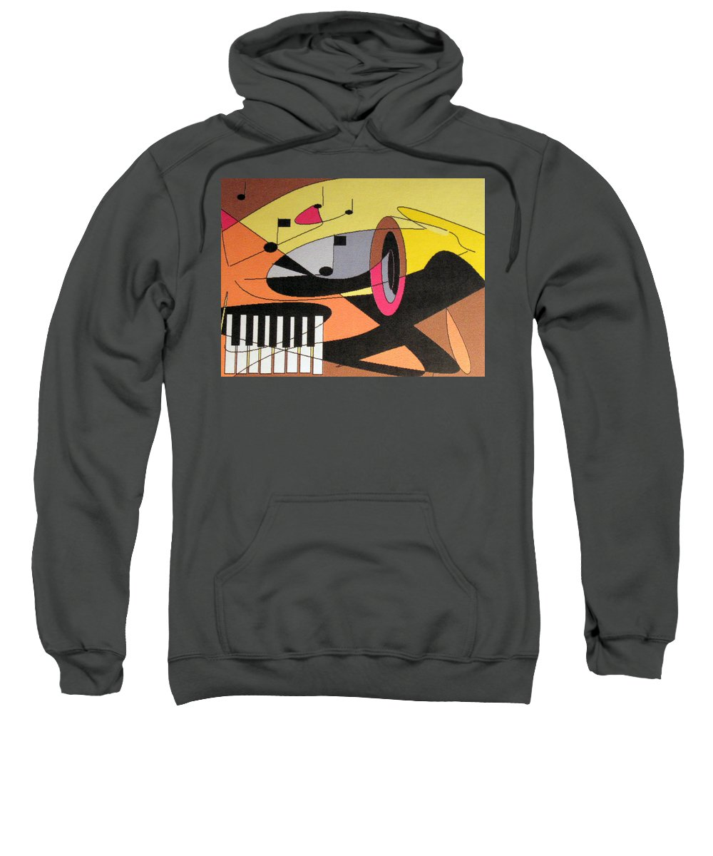 Music Sweatshirt featuring the digital art Rhapsody by Ian MacDonald