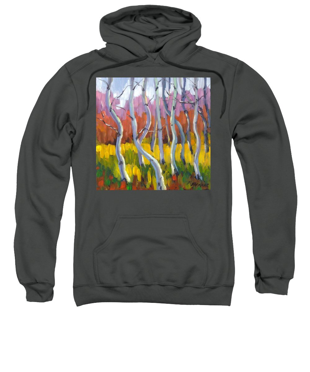 Art Sweatshirt featuring the painting Rhapsody No 5 by Richard T Pranke
