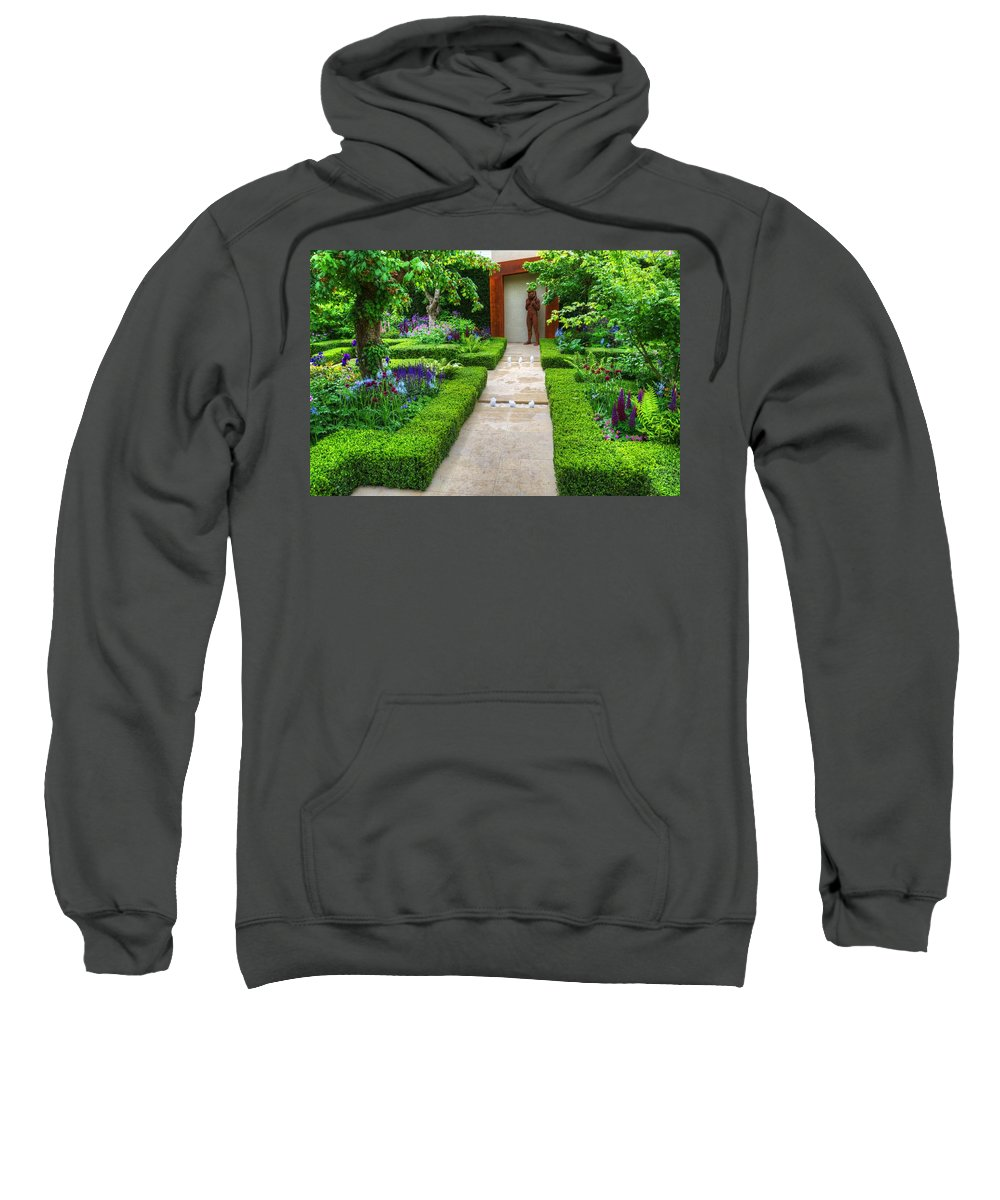 Rhs Chelsea Sweatshirt featuring the photograph Rhs Chelsea Healthy Cities Garden by Chris Day