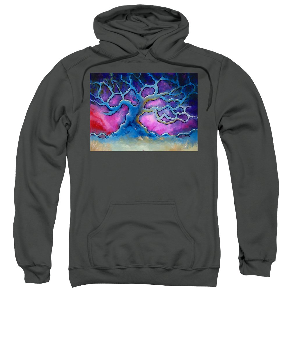 Landscape Sweatshirt featuring the painting Ria by Jennifer McDuffie