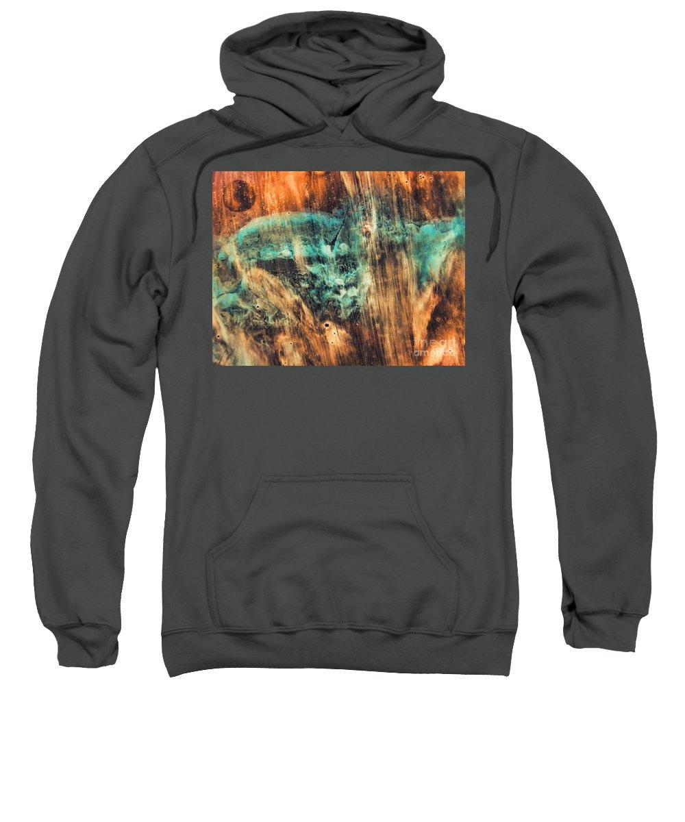 Riddick Sweatshirt featuring the painting Riddicks World Watercolor Painting by Justyna JBJart