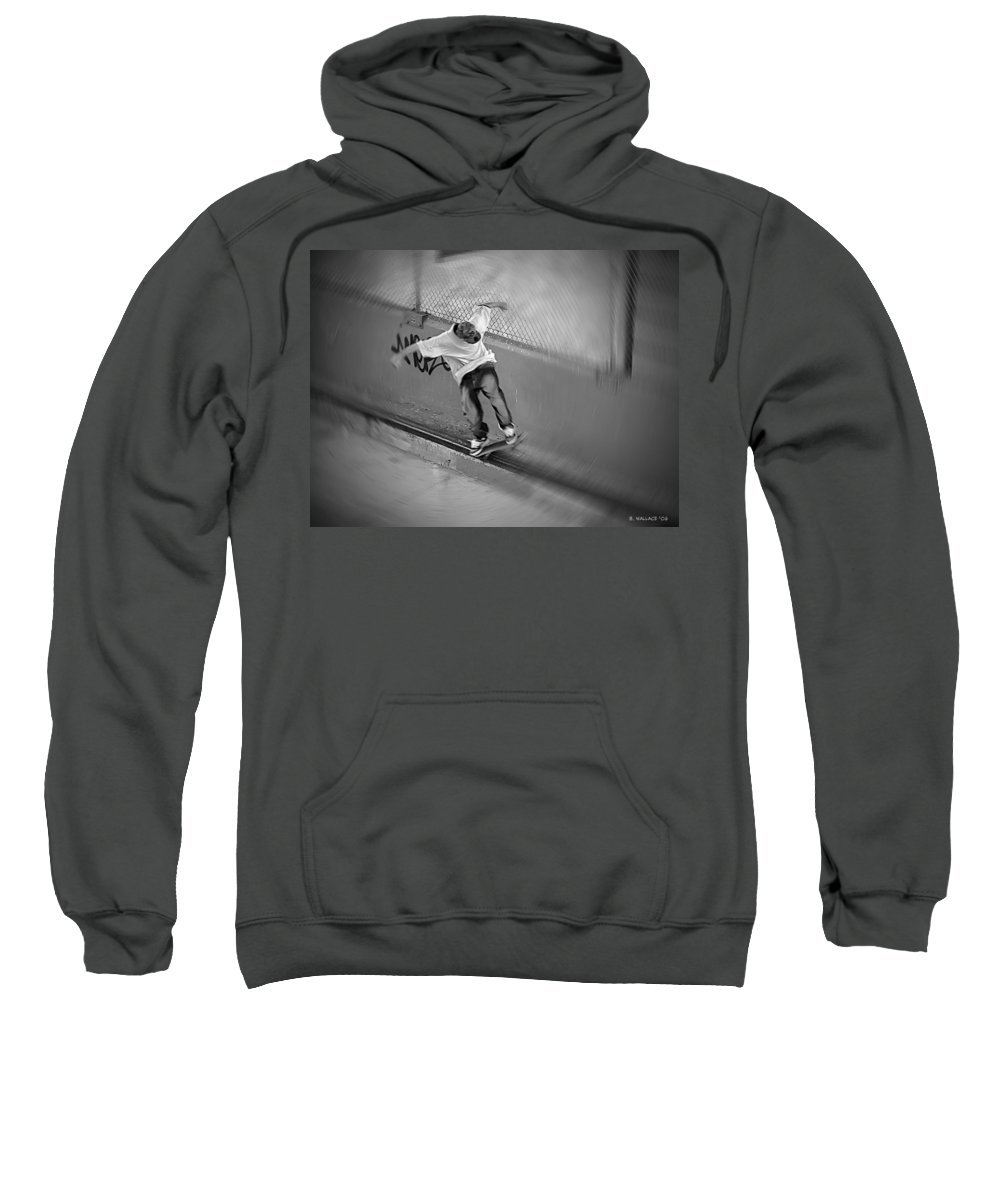 2d Sweatshirt featuring the photograph Riding The Rail by Brian Wallace