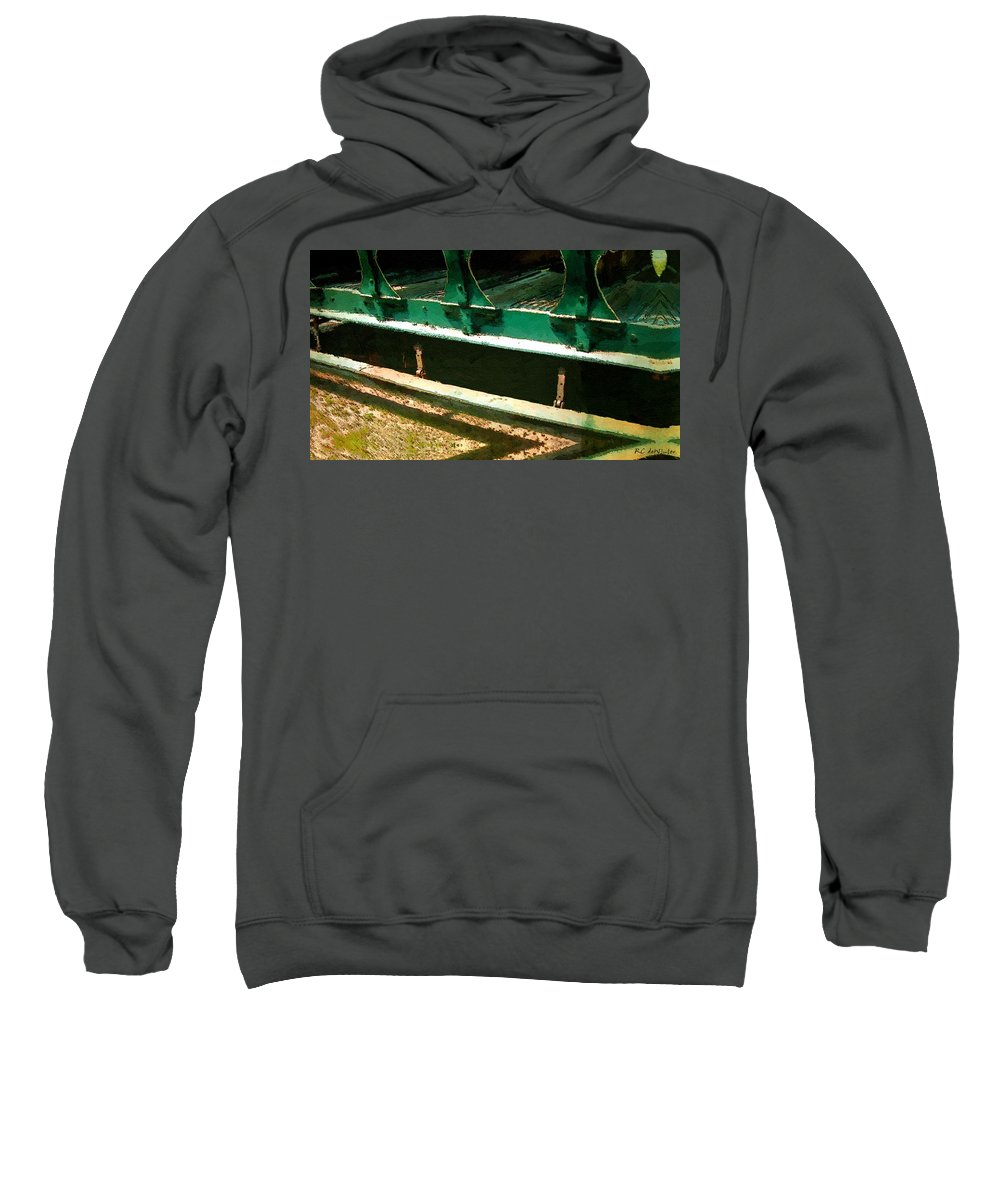 Antique Sweatshirt featuring the painting Riding The Rails by RC DeWinter