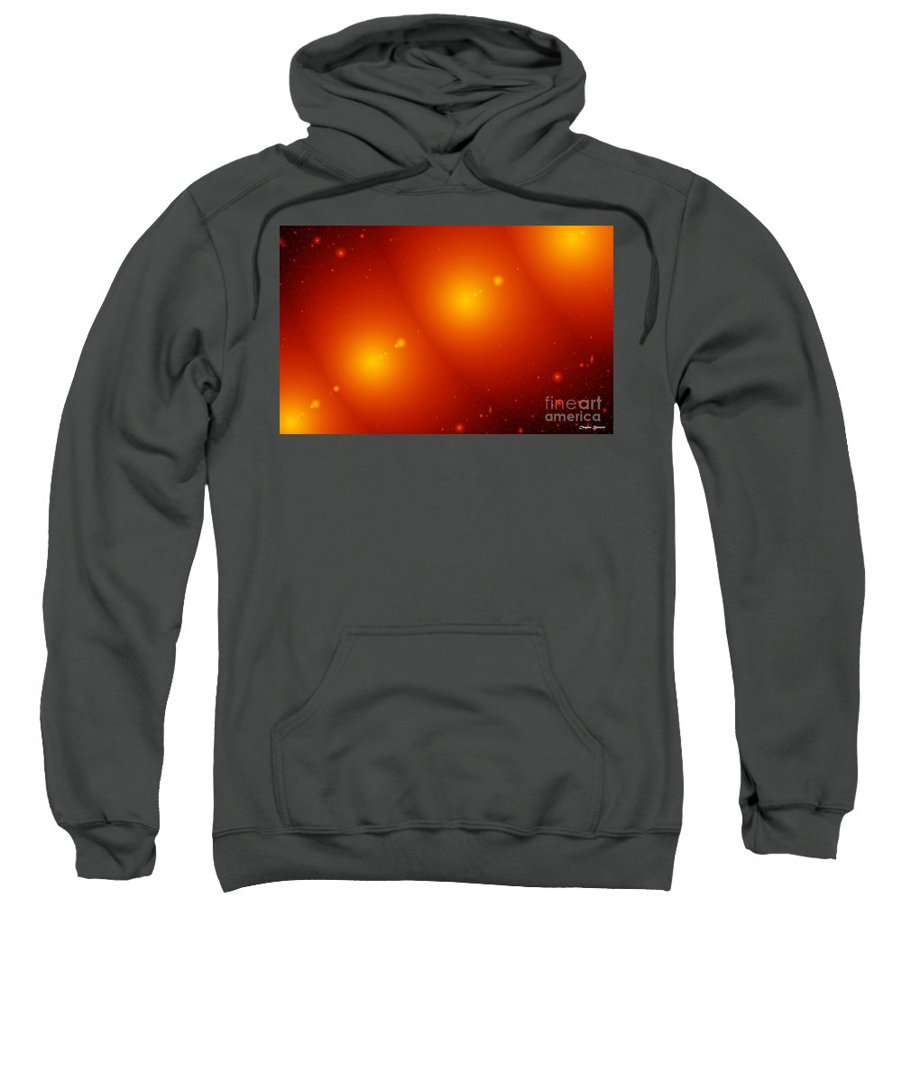 Clay Sweatshirt featuring the digital art Rings Of Saturn by Clayton Bruster