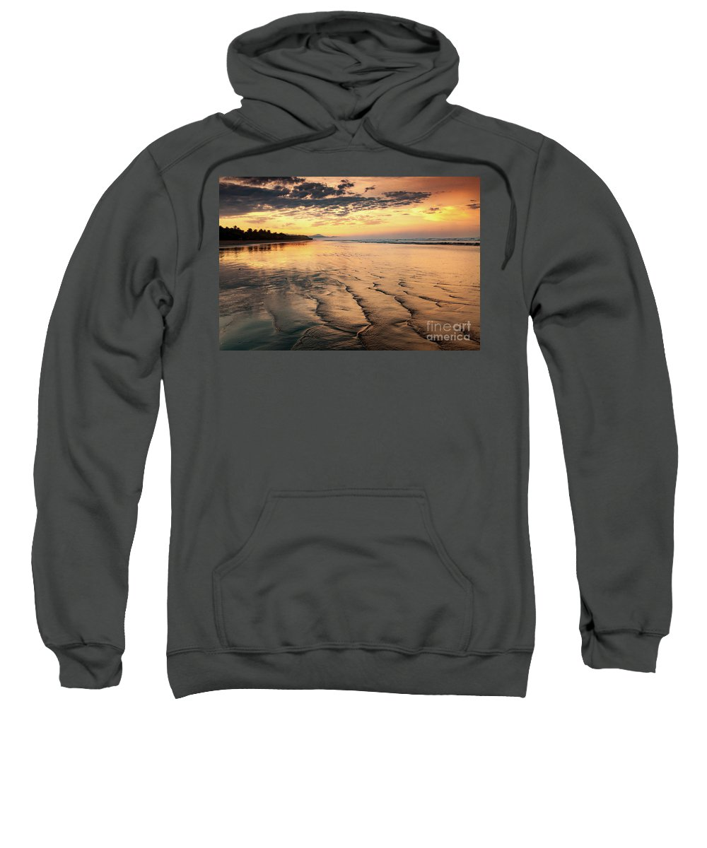 Landscape Sweatshirt featuring the photograph Ripples On The Coast by Iris Greenwell