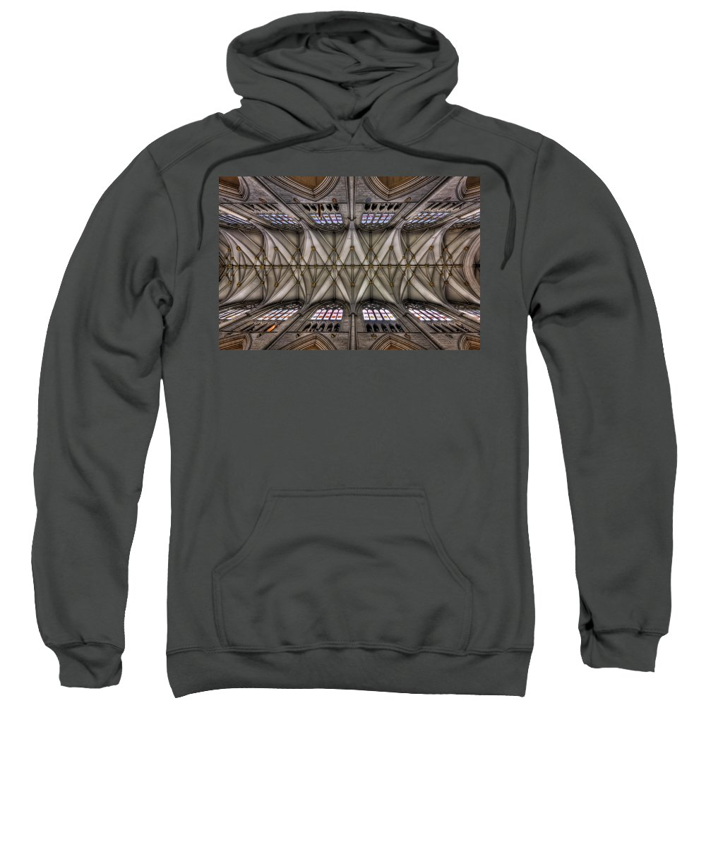 Ceiling Sweatshirt featuring the photograph Rise Above by Evelina Kremsdorf