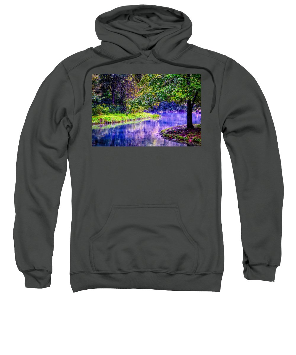 River Sweatshirt featuring the photograph River Bend by Robert Cox
