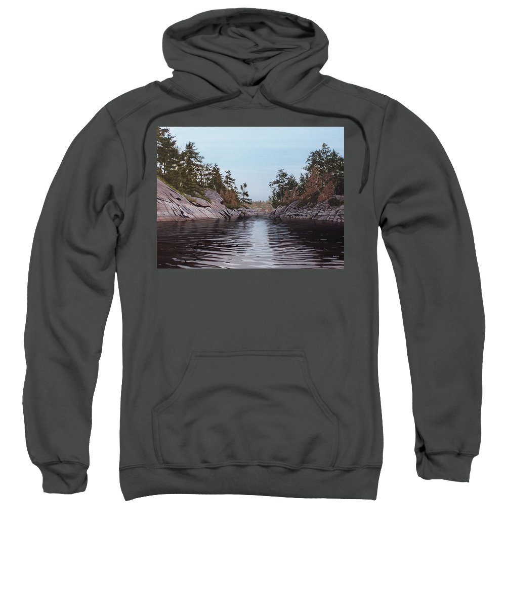 Landscapes Sweatshirt featuring the painting River Narrows by Kenneth M Kirsch