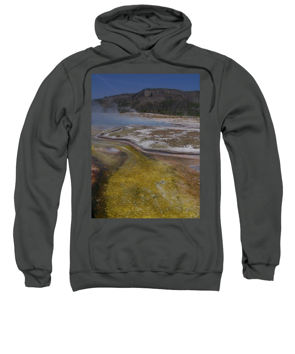 Geyser Sweatshirt featuring the photograph River Of Gold by Gale Cochran-Smith
