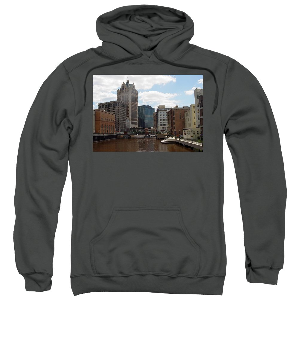 Milwaukee Sweatshirt featuring the photograph River View by Anita Burgermeister
