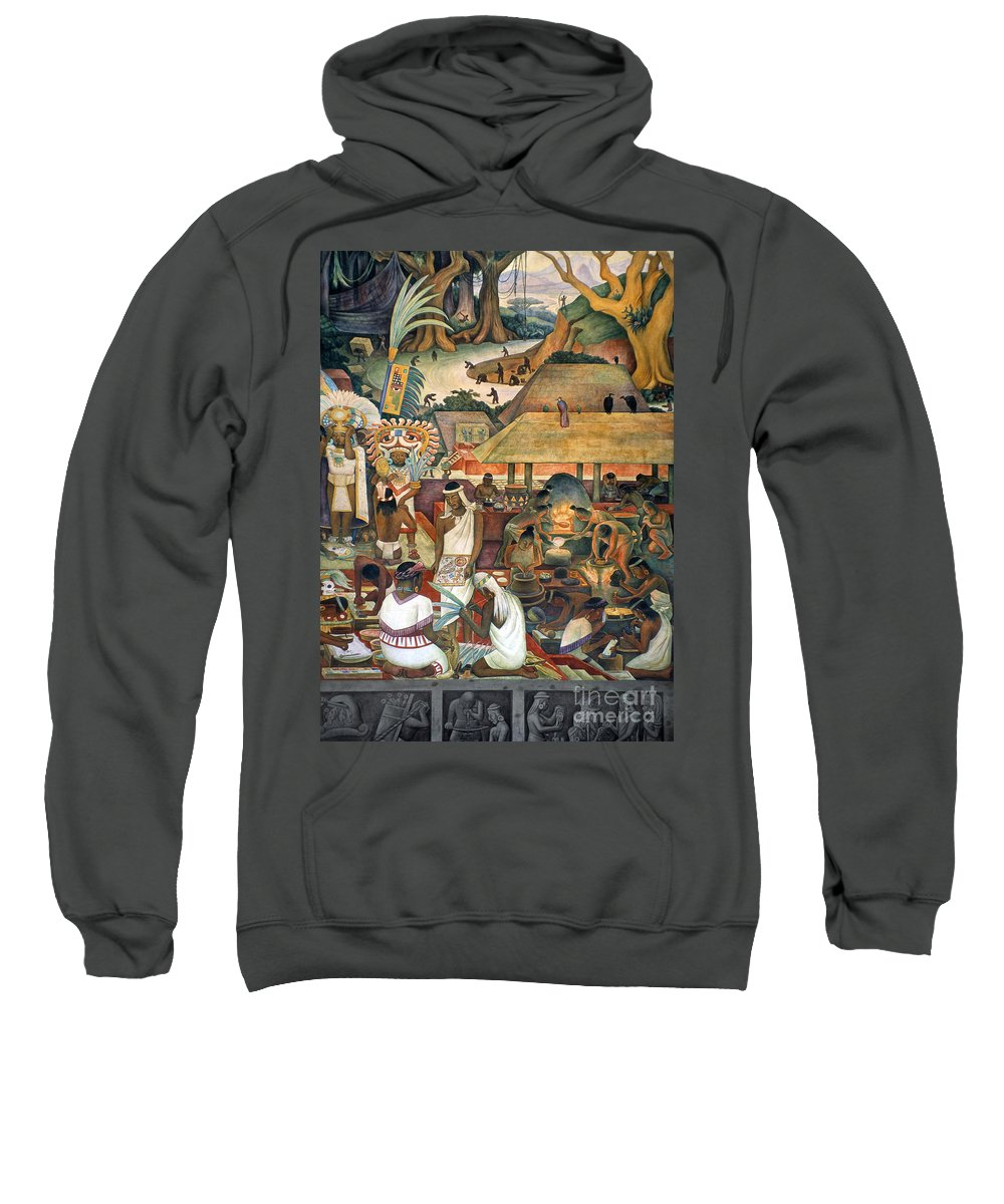 1925 Sweatshirt featuring the photograph Rivera: Pre-columbian Life by Granger