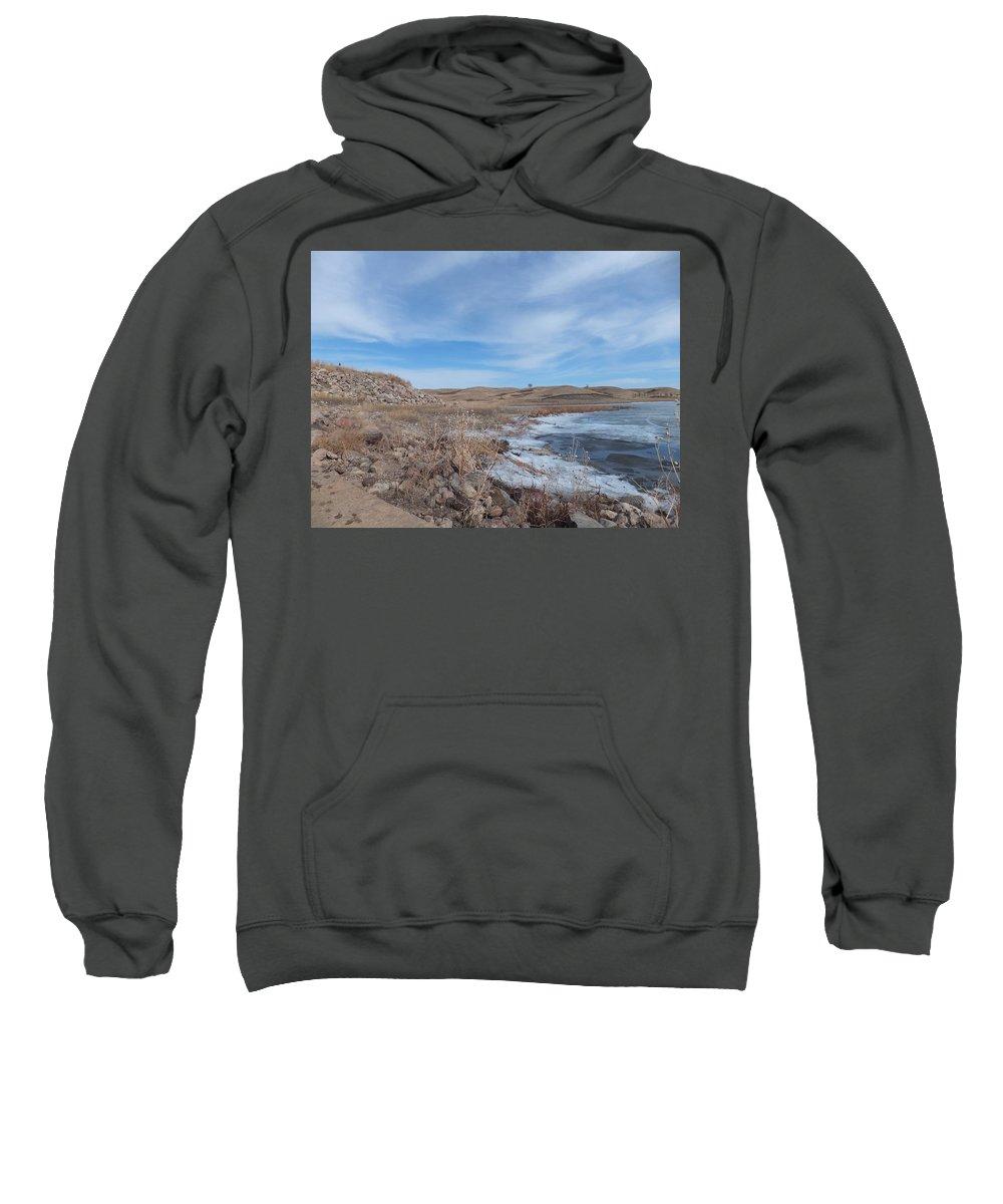 Landscape Sweatshirt featuring the photograph Riverbank by Bernadette Bisbee