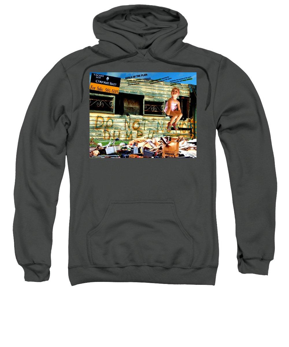 Riverfront Development Sweatshirt featuring the photograph Riverfront Visions by Ze DaLuz