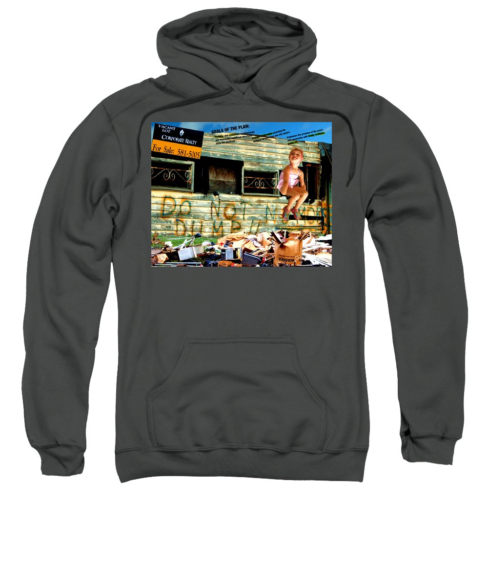 Riverfront Development Sweatshirt featuring the photograph Riverfront Visions by Ze DaLuz