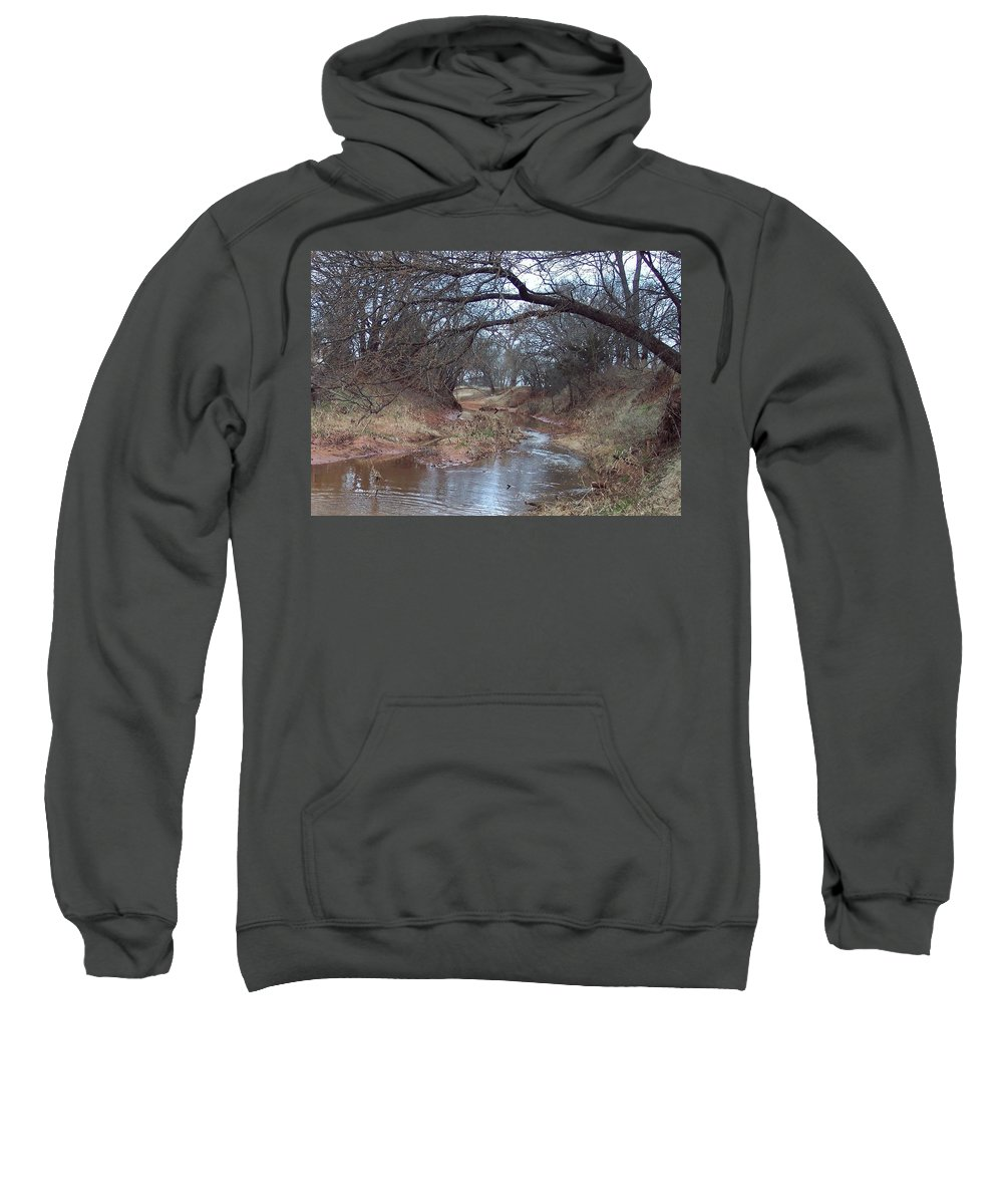 Landscapes Sweatshirt featuring the photograph Rivers Bend by Shari Chavira