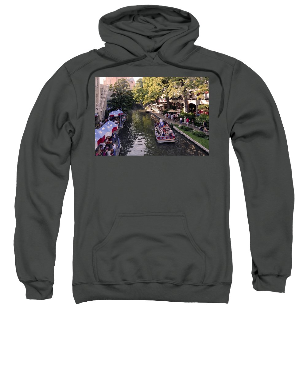 Impressionism Sweatshirt featuring the photograph Riverwalk IIi by Steven Sparks