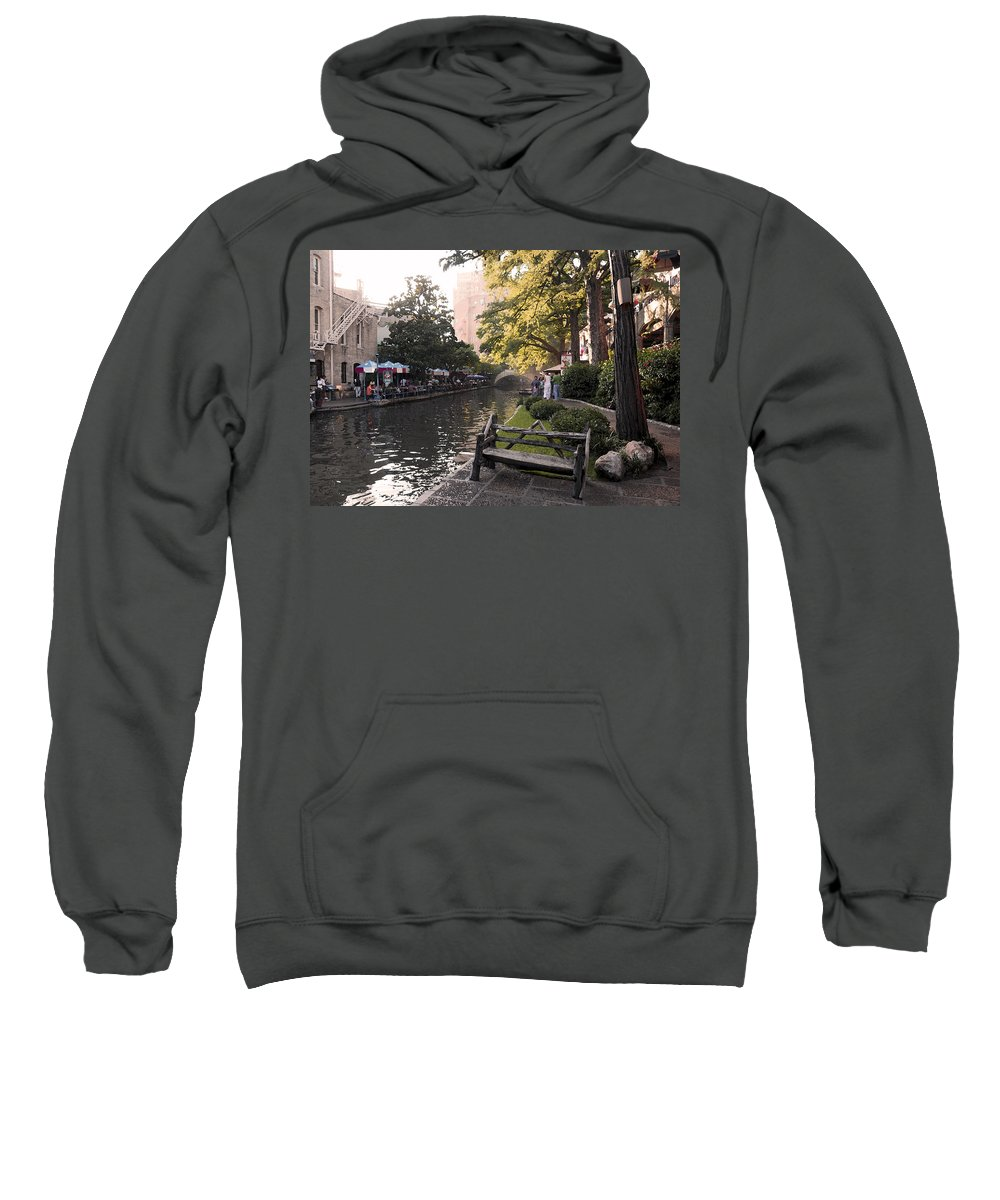 Impressionism Sweatshirt featuring the photograph Riverwalk Iv by Steven Sparks