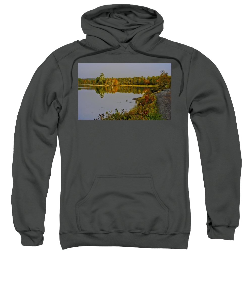 Grants Lake Pictou County Nova Scotia Sweatshirt featuring the photograph Road To Beauty by Kathleen Sartoris