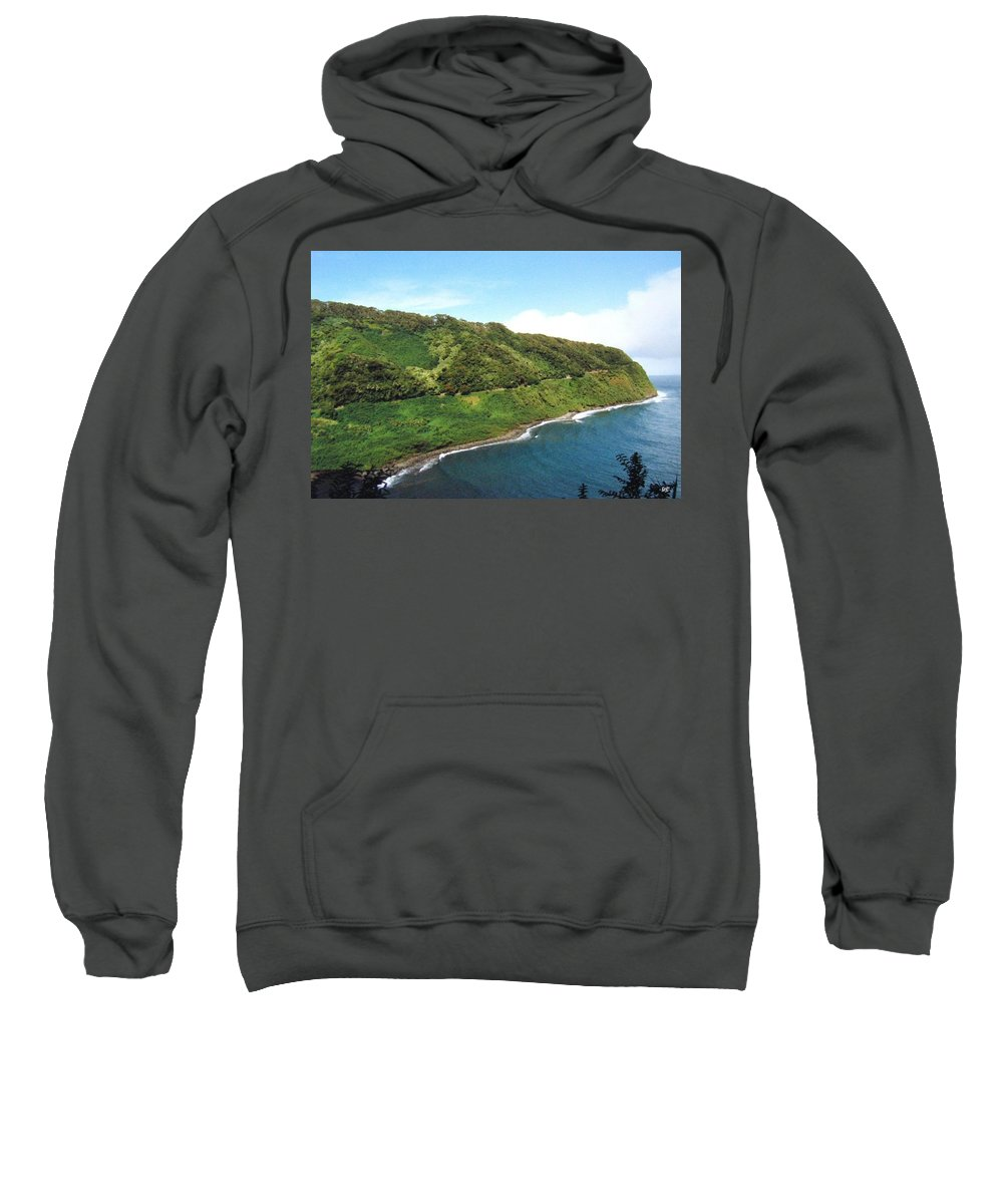 1986 Sweatshirt featuring the photograph Road To Hana by Will Borden