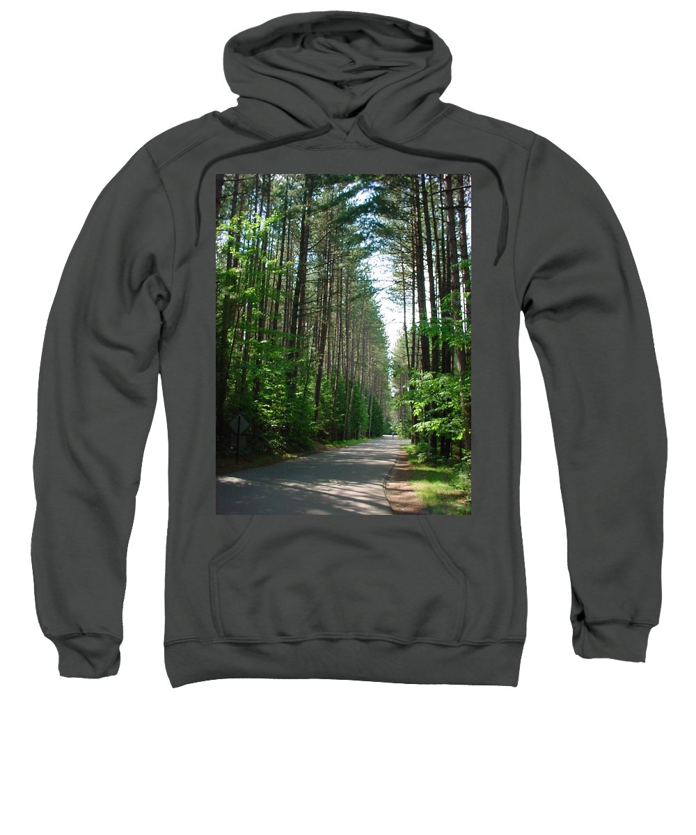 Fish Creek Sweatshirt featuring the photograph Roadway At Fish Creek by Jerrold Carton