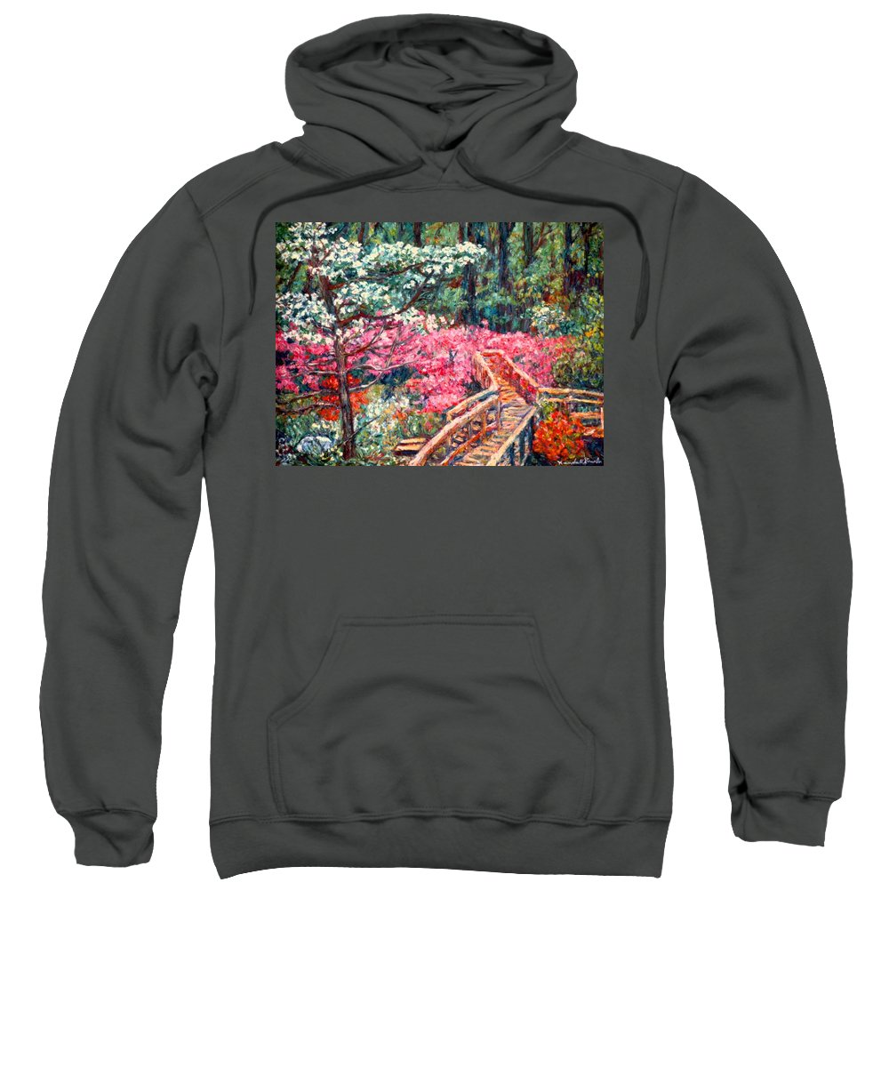Garden Sweatshirt featuring the painting Roanoke Beauty by Kendall Kessler