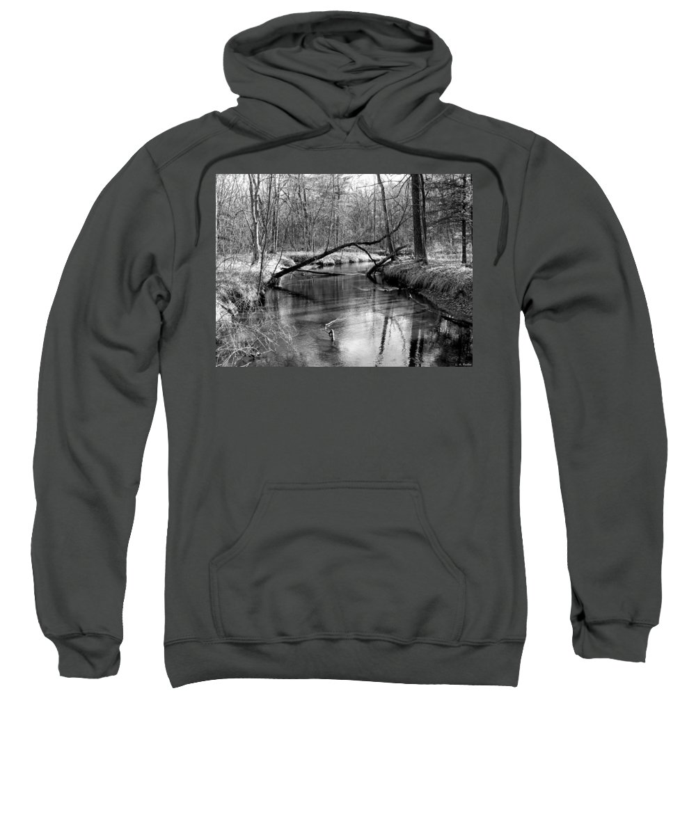 Black And White Sweatshirt featuring the photograph Roche-a-cri State Park by Lauren Radke