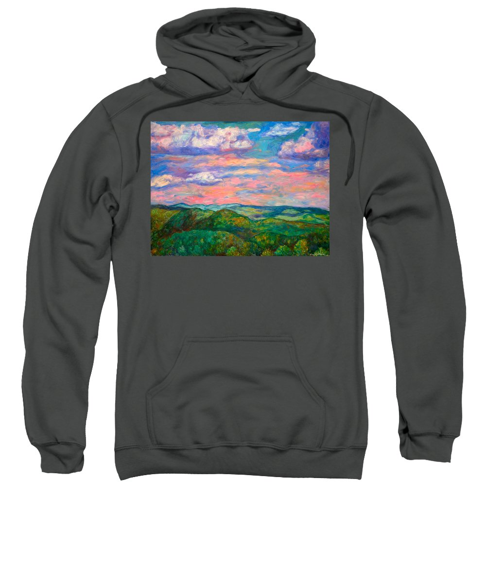 Landscape Paintings Sweatshirt featuring the painting Rock Castle Gorge by Kendall Kessler