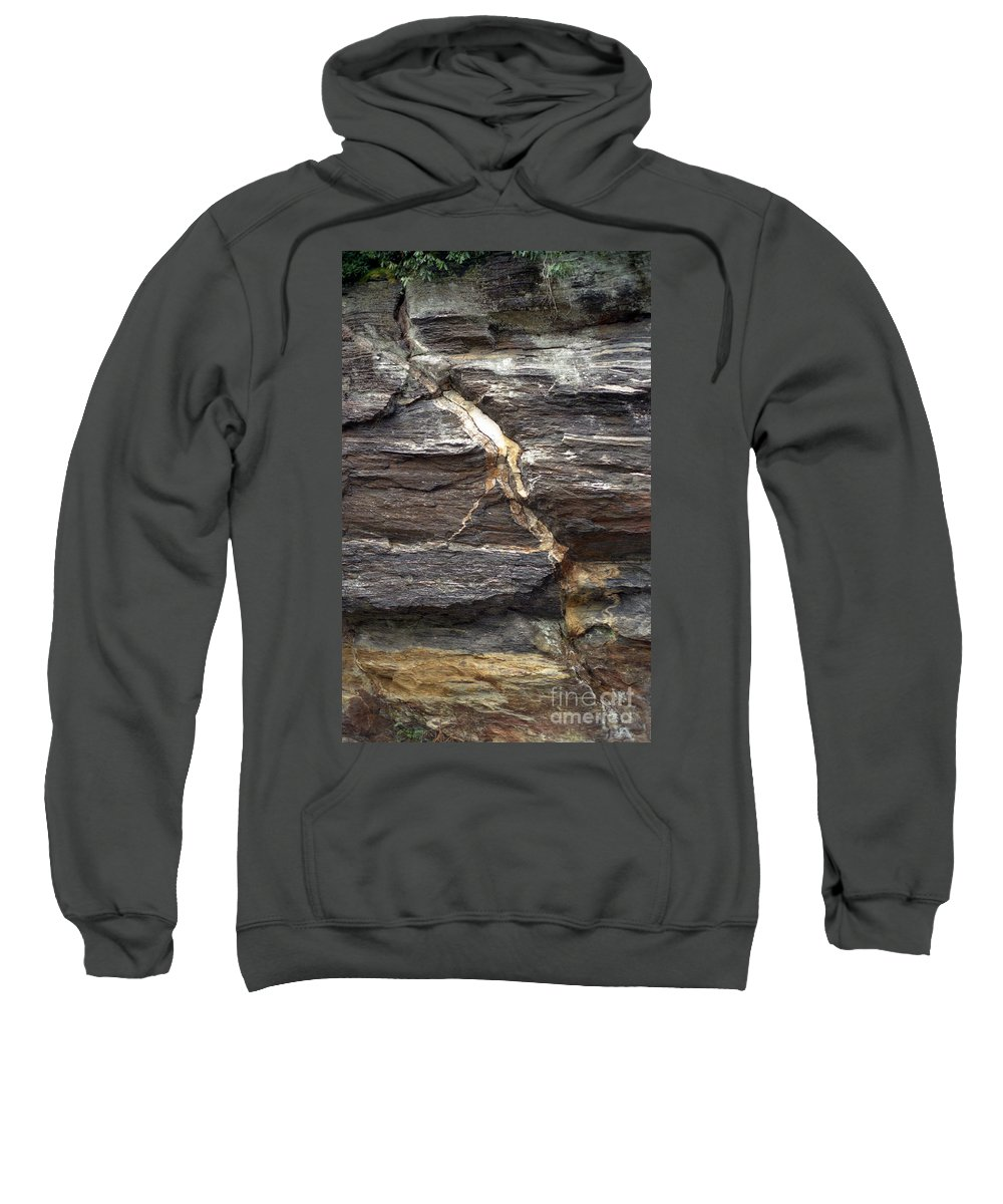 Rock Face Sweatshirt featuring the photograph Rock Face by Richard Rizzo