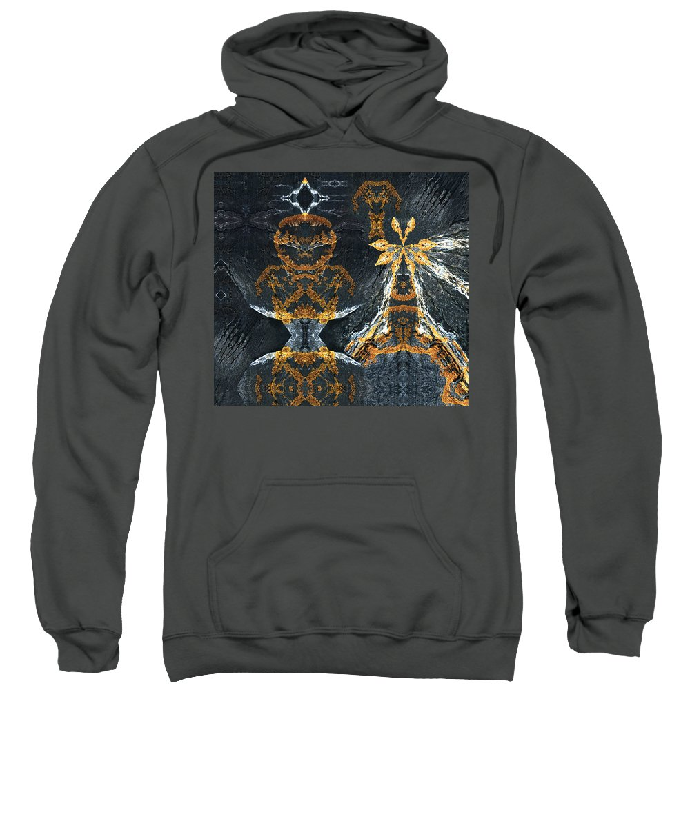 Rocks Sweatshirt featuring the digital art Rock Gods Lichen Lady And Lords by Nancy Griswold