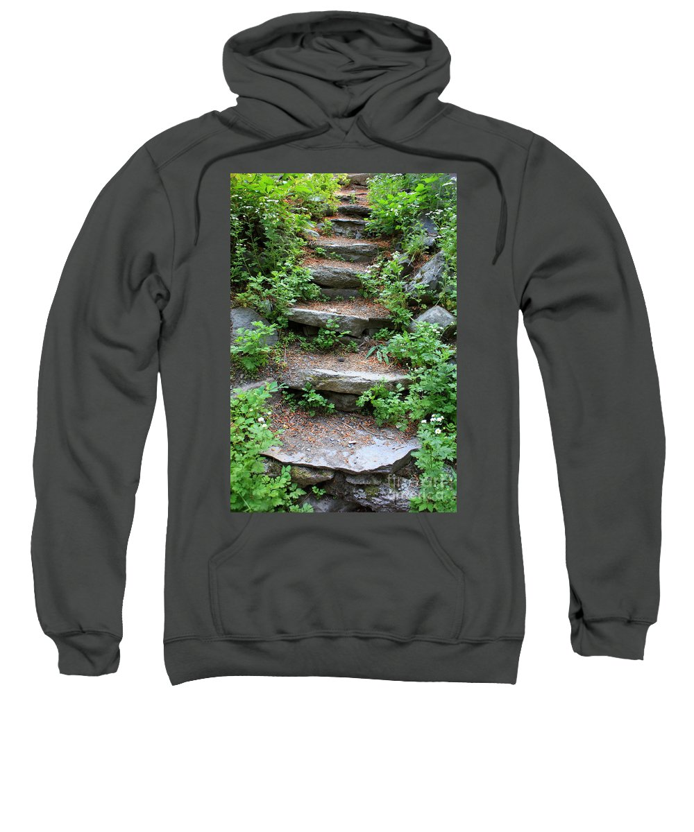 Rock Stairs Sweatshirt featuring the photograph Rock Stairs by Carol Groenen