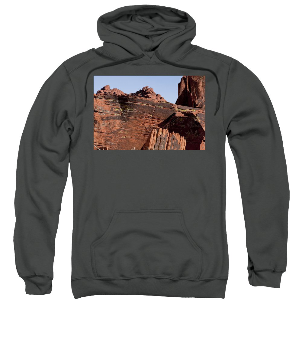 Rocks Sweatshirt featuring the photograph Rock Texture And Lichen by Kelley King