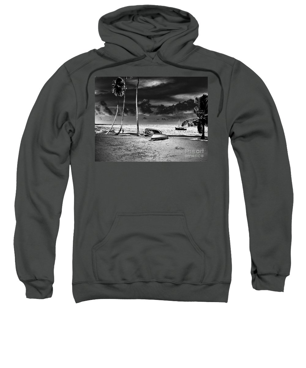 Palm Sweatshirt featuring the photograph Rock The Boat Extreme by Heather Kirk