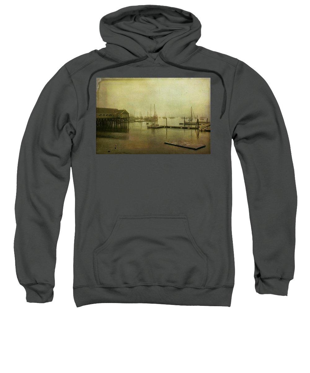 Cindi Ressler Sweatshirt featuring the photograph Rockland Harbor by Cindi Ressler