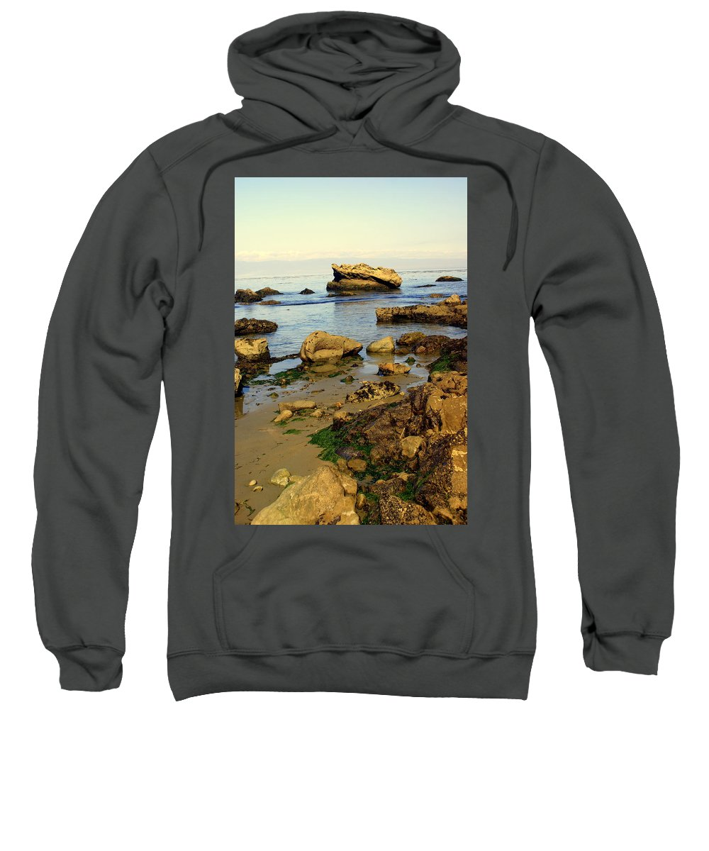 Beach Sweatshirt featuring the photograph Rocky Beach by Marty Koch