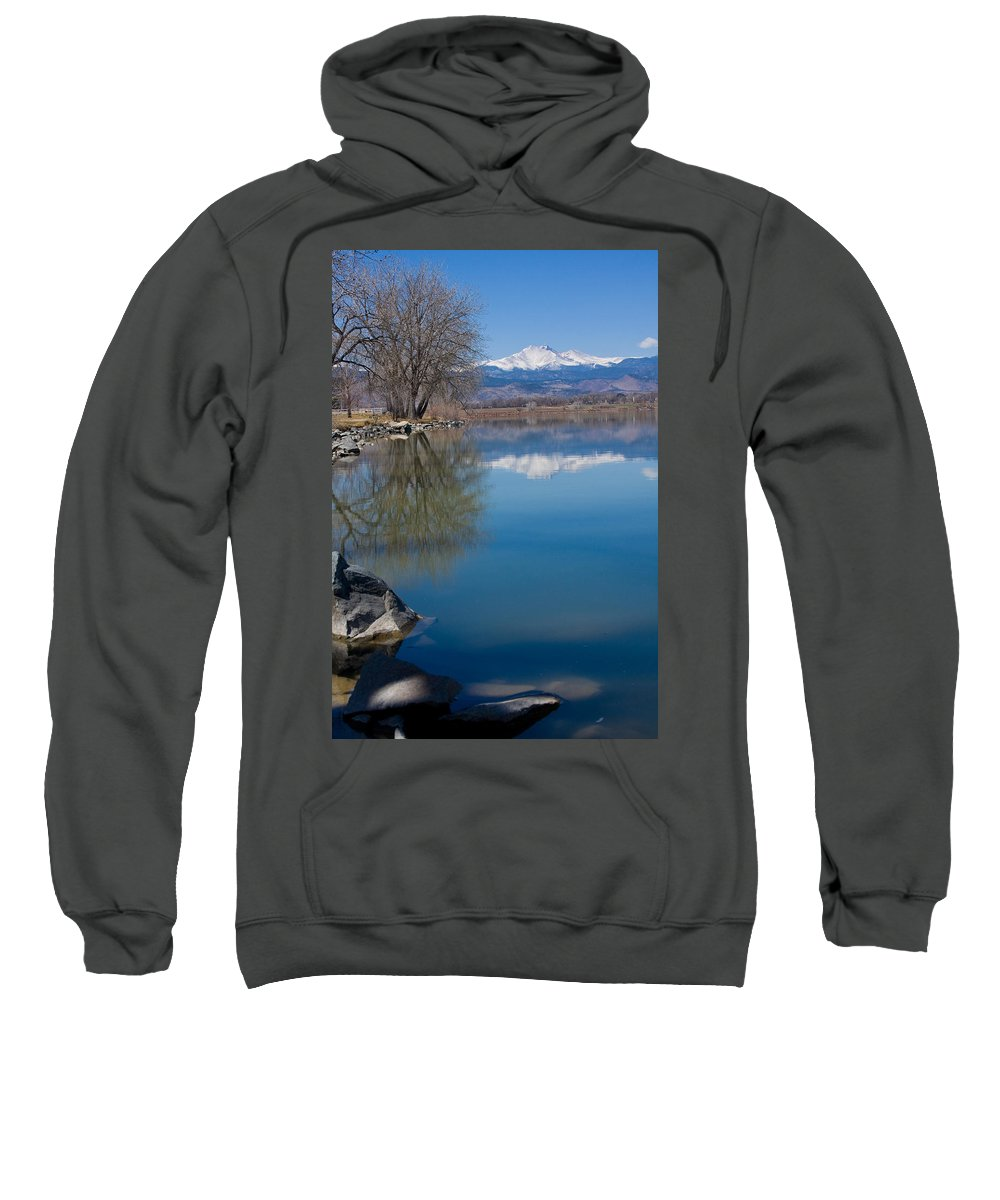 Twin Peeks Sweatshirt featuring the photograph Rocky Mountain Reflections by James BO Insogna