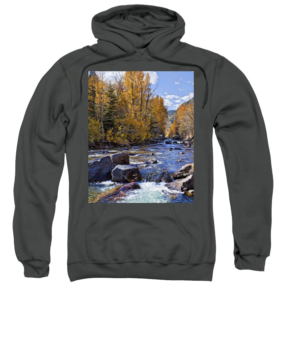 Rocky Mountain Stream Sweatshirt featuring the photograph Rocky Mountain Water 8 X 10 by Kelley King