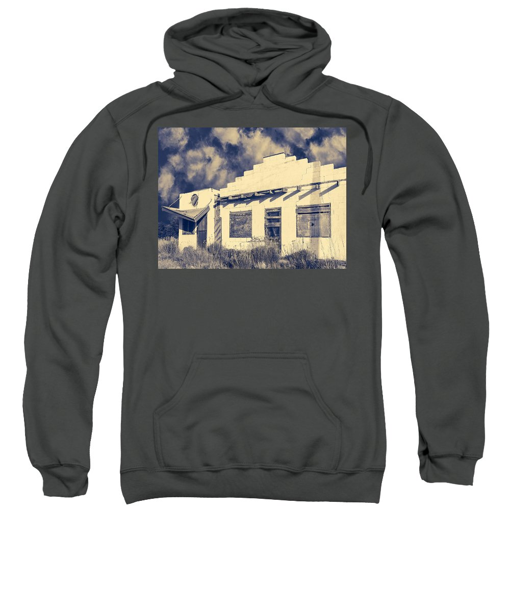 Old Bar Sweatshirt featuring the photograph Rode Hard Roadhouse by Dominic Piperata