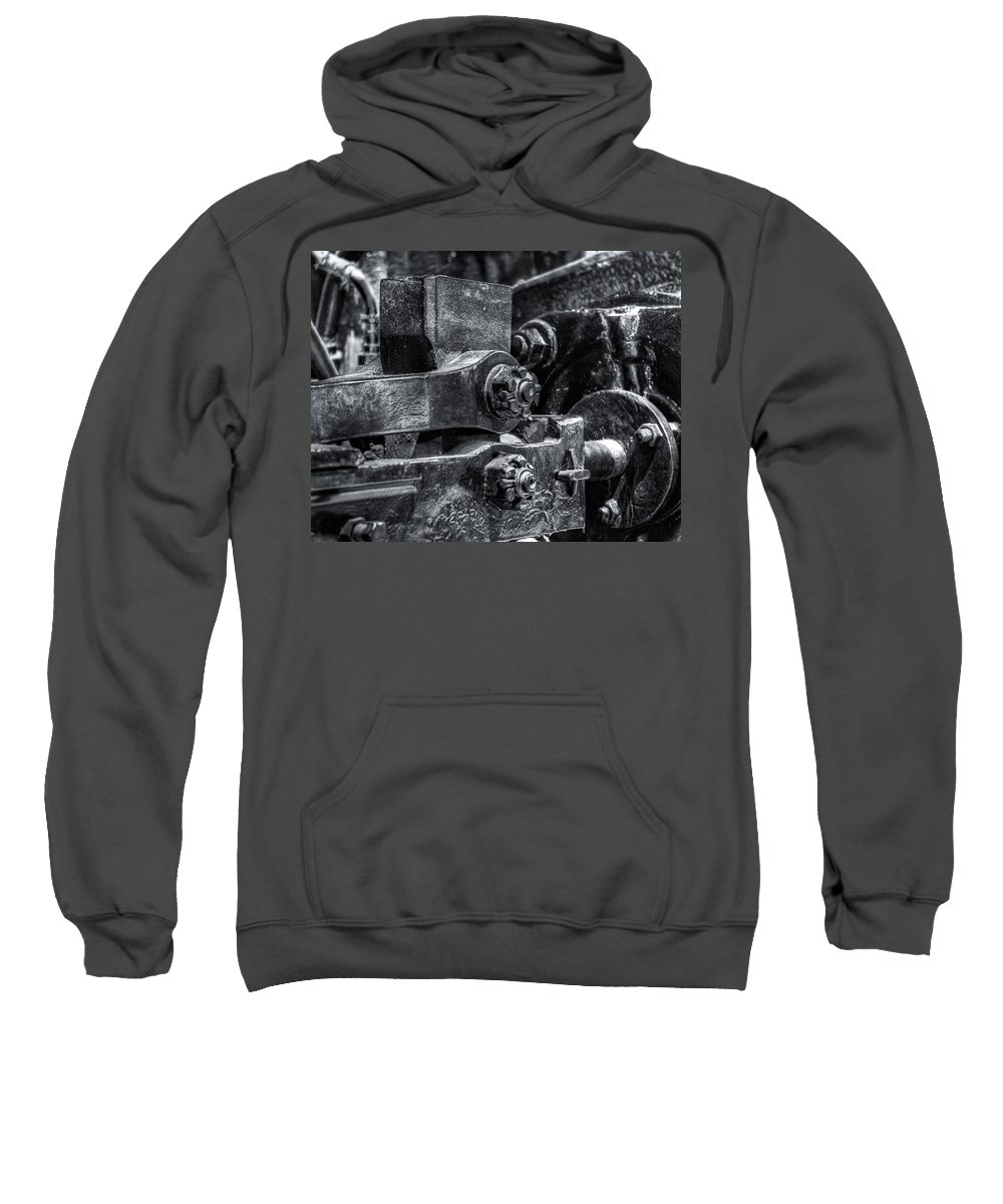 Machinery Sweatshirt featuring the photograph Rods Of Steel by Scott Wyatt