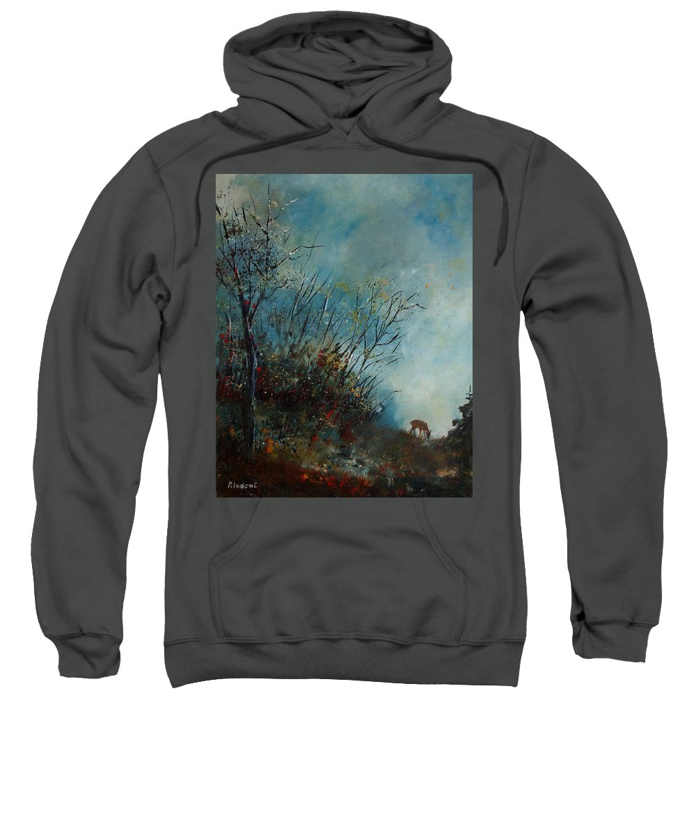 Animal Sweatshirt featuring the painting Roedeer In The Morning by Pol Ledent