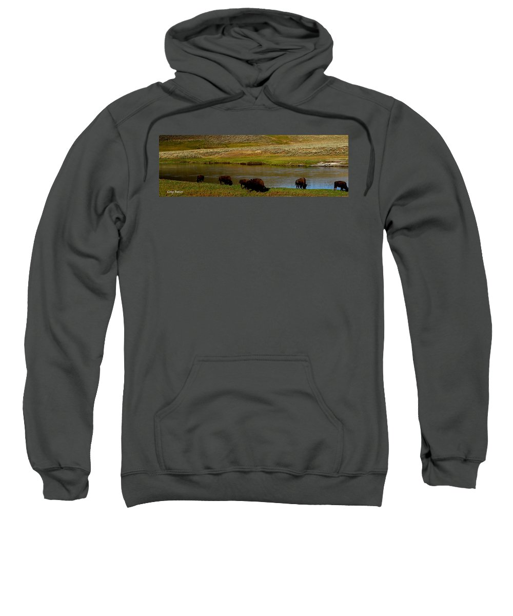 Patzer Sweatshirt featuring the photograph Roll On Roll On by Greg Patzer