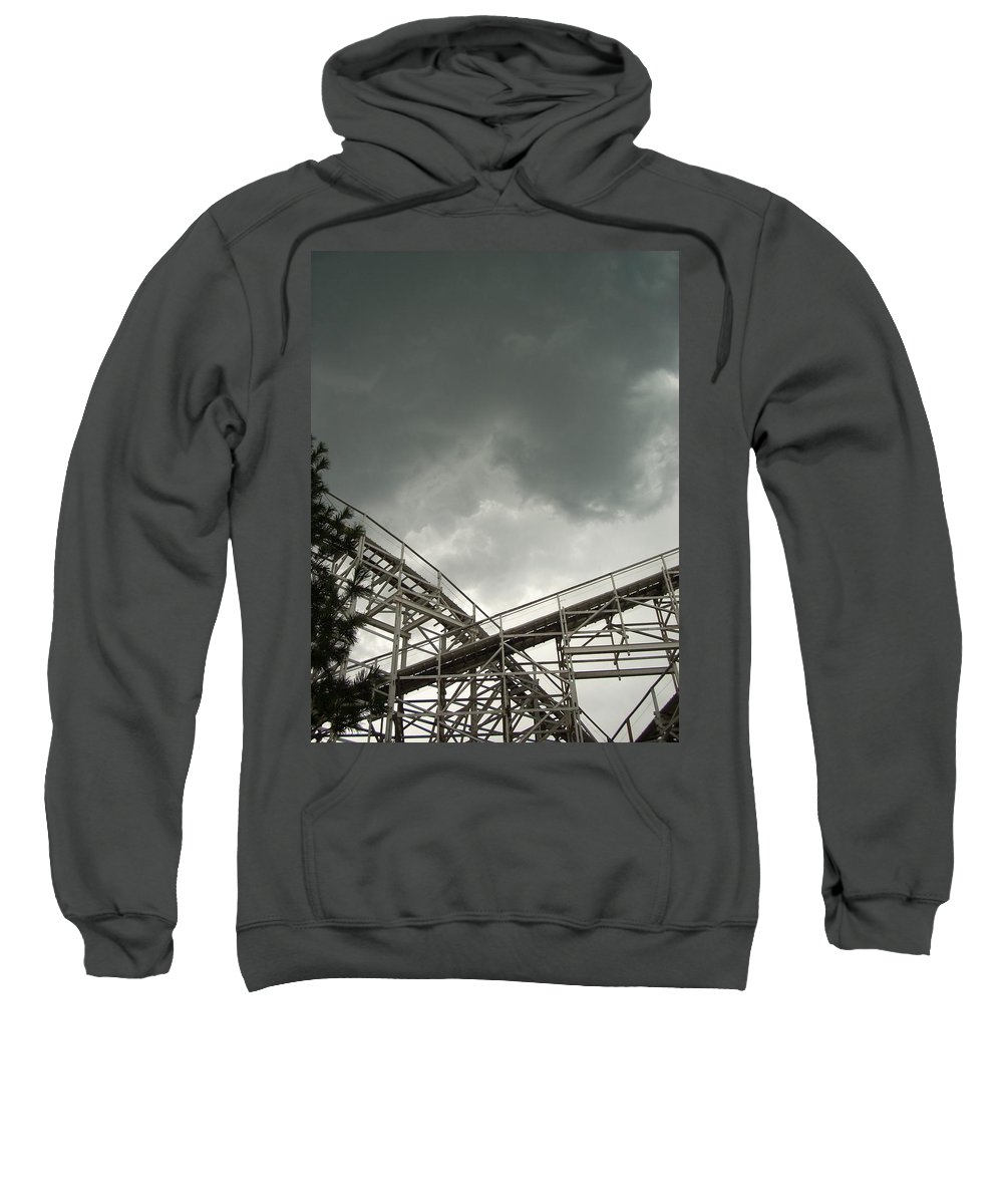 Amusement Sweatshirt featuring the photograph Roller Coaster 3 by Sara Stevenson