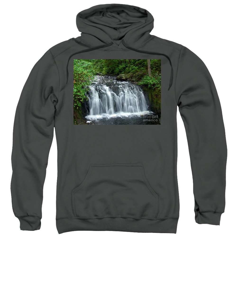 Waterfall Sweatshirt featuring the photograph Rolley Lake Falls Dry Brushed by Sharon Talson