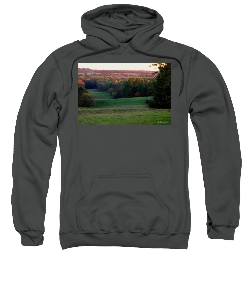 Landscape Sweatshirt featuring the photograph Rolling Meadow by Betty Northcutt