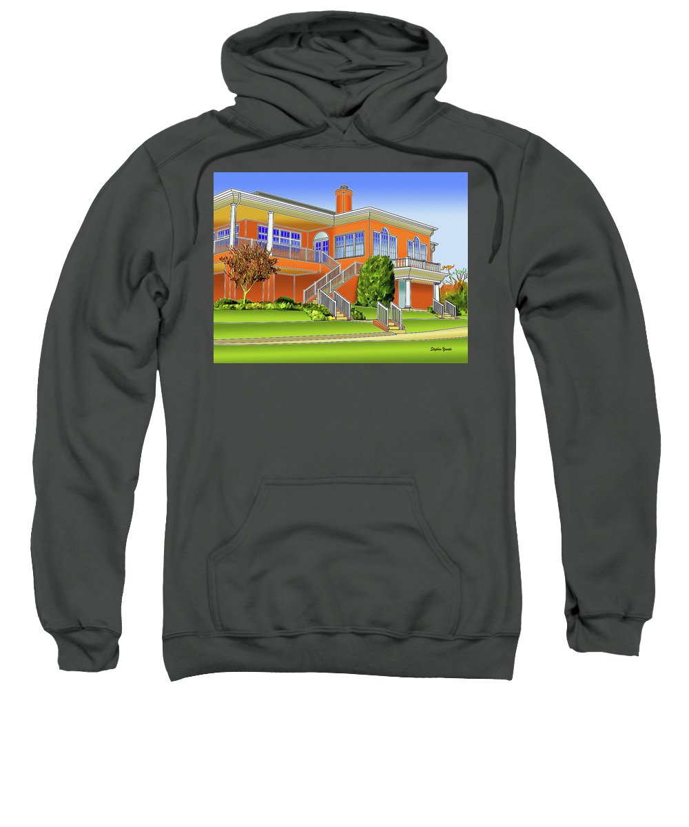 Catonsville Sweatshirt featuring the digital art Rolling Road Golf Club by Stephen Younts