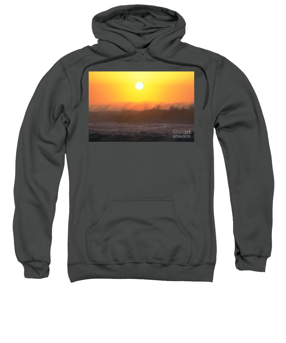 Afternoon Sweatshirt featuring the photograph Rolling Waves by Vince Cavataio - Printscapes
